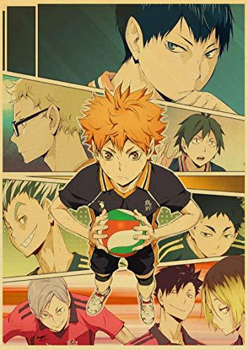 ALLYAOFA Anime Voleibol Placa de Cartel de Chapa de Metal Home Bar Decoración de Arte Placa de Metal Colgante de Pared, un Regalo para fanáticos del Anime 7.8x11.8in (20cmx30cm) a