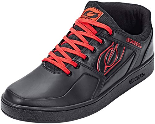 O'Neal | Bike-Shoe | Mountain Bike MTB DH FR Downhill Freeride | Balance Between Grip and Foot Positioning, Inner Joint Protection, PU | Pinned Pro Shoe | Adult | Black Red | Size 44