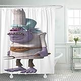 Semtomn Shower Curtain Colorful DreamWorks Trolls...