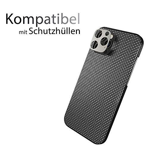 innoGadgets Kameraschutz kompatibel mit iPhone 12 Pro | Passgenauer Kamera Schutz gegen Stöße und Kratzer | staubfrei installieren mit Reinigungs-Set | Aluminiumrahmen in Graphit