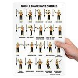 SmartSign - S-0881-AL-14 'Mobile Crane Hand Signals' Sign | 10' x 14' Aluminum Black on White