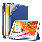 ESR Funda para iPad 10.2, Funda Diseda para iPad 7a generaci 2019 con Soporte Apple Pencil, Funda Trtica Inteligente con Ranura para Liz Ttil, Suave Funda Serie Rebound Pencil, Azul Marino