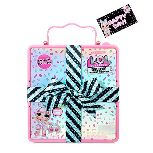 L.O.L. Surprise! Miss Partay Doll and Pet - With Fashions, Fizzy Surprises & Accessories - Deluxe Present Surprise