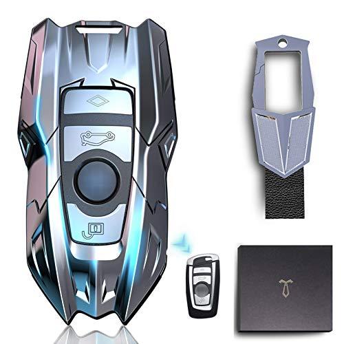 LORESJOY Cover Guscio Silicone per Chiave BMW,Guscio Chiave per 1 3 4 5 6 7 Series X3 X4 M2 M3 M4 M5 M6 Lega di Zinco Custodia per Chiavi Auto All-Inclusive