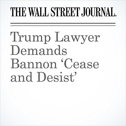 Trump Lawyer Demands Bannon 'Cease and Desist' copertina