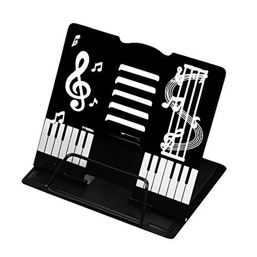 かわいい折りたたみ卓上の譜面台 書見台としても (黒)