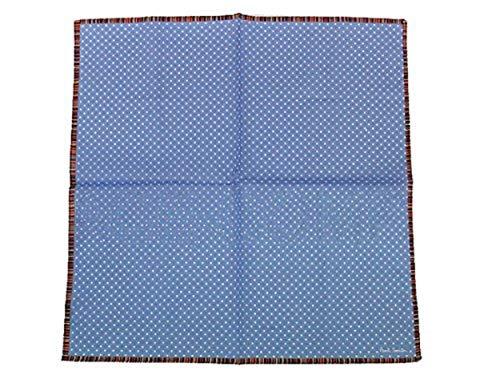 ポールスミス ハンカチ メンズ/マルチフレームドットプリント/ブルー【国内正規品】【ギフトラッピング可】