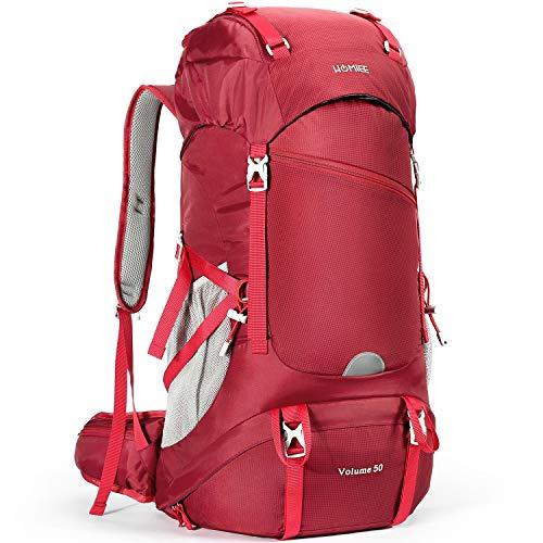 HOMIEE Zaino da Trekking 50 Litri, Zaini da Escursionismo, Zaino Viaggi di Campeggio, Zaino Montagna, Zaino per Alpinismo Impermeabile, Daypack da Arrampicata