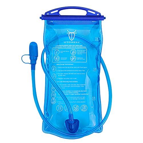 UTOBEST Bolsa de hidratación de 1,5 l, 2 l, para mochila, sistema de hidratación con manguera para correr, senderismo, ciclismo
