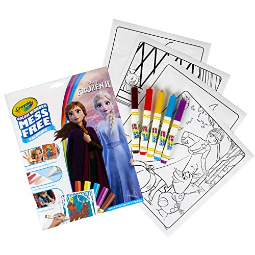 Crayola Color Wonder: Frozen II, Trolls or Baby Shark Mess Free Coloring Book w/Markers $3.97 - Amazon