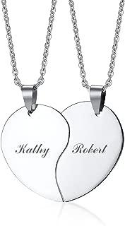 split heart pendants for couples