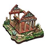Ybzx Ruinas de templos Romanos, decoración de acuarios, Tanque de Acuario, escondite de Peces, Edificio Submarino, Escultura de naufragio, diseño de Escena, artesanía de Resina, 33 * 24 * 22 cm
