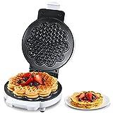 Piastra per Waffle, 900W Classica Macchina waffle, 5 Cuore Waffle Alla Volta, Piastra...