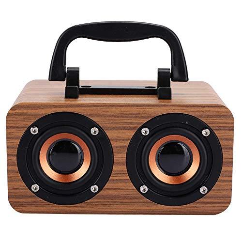 YXZQ Altavoz Bluetooth, Altavoz Bluetooth inalámbrico de Madera Retro Reproductor de música portátil para PC de teléfono móvil Aspecto Simple y Elegante, Estilo Retro 360 °;Estéreo