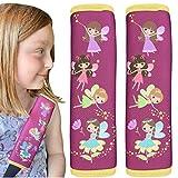 2x protector de cinturón de seguridad HECKBO® con dibujos de hadas mágicas: cinturón...