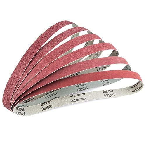 ABRTEN 24 PCS 1 inch x 30 inch Aluminum Oxide Sanding Belts Assorted(Kit) (4 Each Of 60 80 120 150 240 400 Grit) GXK56 For Belt Sander 1x30 Inch