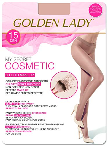 Goldenlady Mysecret 15 Cosmetic Medias, 15 DEN, Transparente (Melon 001a), Medium (Talla del fabricante: 3-M) para Mujer