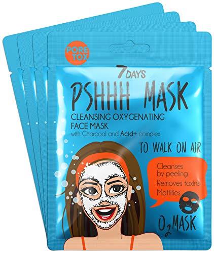 7DAYS Maschera 4 pezzi Azione Detossificante Idratante Bolle Schiuma Bubble Mask