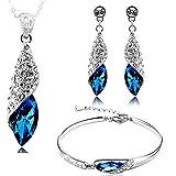 Valentine Gift By Kaameri Bazaar Italian Designer Non Precious Metal Jewellery Set for Women (Blue)