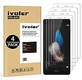 iVoler [4 Pack] Pellicola Vetro Temperato per Huawei P8 Lite, Pellicola Protettiva, Protezione per Schermo