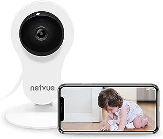 Camaras Vigilancia WiFi Interior Netvue Full HD 1080P Cámara WiFi Compatible con Alexa Audio Bidireccional Detección de Humano Movimiento Visión Nocturna Cámara de Seguridad para Bebé