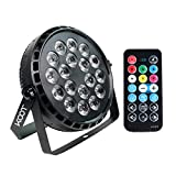Stage Lights, KOOT 72W RGBW High Bright DJ Disco Up Lighting, Sound Activated Strobe Par Can Lights with Remote and DMX Compatible 7 Channel for Wedding Club Dance Show