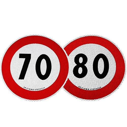 4R Quattroerre.it 31313 Contrassegno Limite velocità 70 e 80 km/h Omologati EU