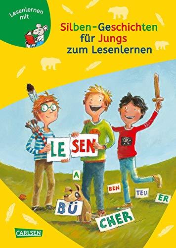 LESEMAUS zum Lesenlernen Sammelbände: Silben-Geschichten für Jungs zum Lesenlernen