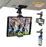 ZenCT - Soporte de clip de coche para tabletas y teléfonos utilizado en parasol de coche, para iPhone y iPad de 4 a 10 pulgadas en diagonal