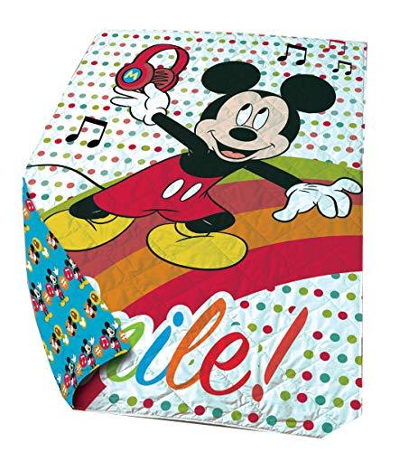 Disney - Manta (poliéster, 140 x 200 cm), diseño de Mickey Mouse