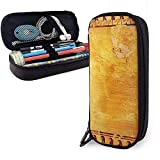 Bolígrafo de cuero de la PU Estuche egipcio antiguo de Anubis y Horus Bolígrafo Papelería Bolso Bolígrafo Bolso de maquillaje cosmético Bolso