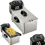 Dunlop friggitrice | Premium frittiergeraet per l' uso professionale | Freddo Zona tecnologia | in acciaio inox Termostato regolabile fino a 190gradi | cestello estraibile | 220V–240V | 3 litri