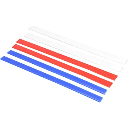 6pcs Rolling Pin Guides, Dough Thickness Rails Silicone Measuring Dough Strips for Kitchen Restaurant