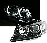 Faros delanteros Angel Eyes Set, Negro, con LED weiãÿen anillos de luz