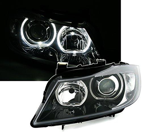 Angel Eyes Scheinwerfer Set, Schwarz, mit LED weißen Standlichtringen