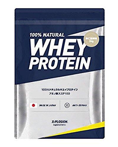 エクスプロージョン ホエイプロテイン 3kg 約100食分 杏仁豆腐味 大容量 国産