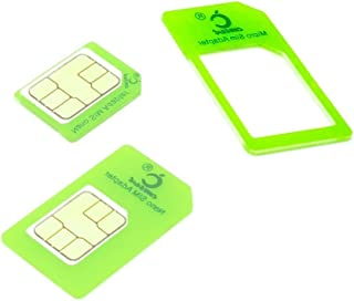 Cismax HD【Amazon即日出荷 】落下防止機能付Nano SIM MicroSIM 変換アダプター 4点セット グリーン iPhone6S/6/6plus/5S/5C/4S/4/3GS/3用STD xperia スマホ 拡張 便利 m...