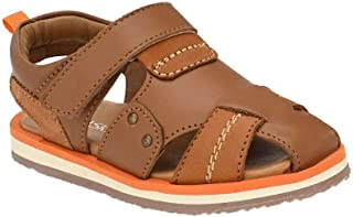 Hopscotch Tuskey Shoes Boys Genuine Leather Lining Leather Closed Toe Leather Sandals in Tan Color