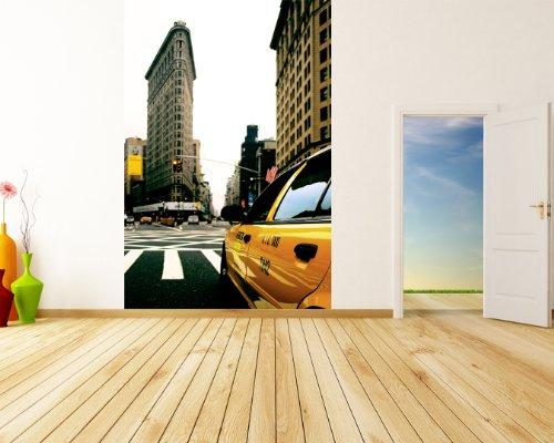 Bilderdepot24 Papier Peint intissé - Yellow Cab - New York - 65x100 cm - pâte Inclus - Vente directe Fabricant!
