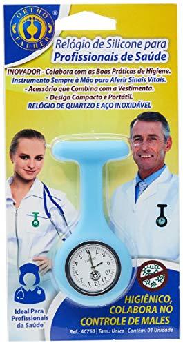 Relógio de Silicone para Profissionais de Saúde, Ortho Pauher, Azul Claro