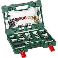 Bosch Home and Garden 2607017195 Bosch V-Line Titanio - Maletín de 91 unidades para taladrar y atornillar, 0 W, 0 V, Set Piezas