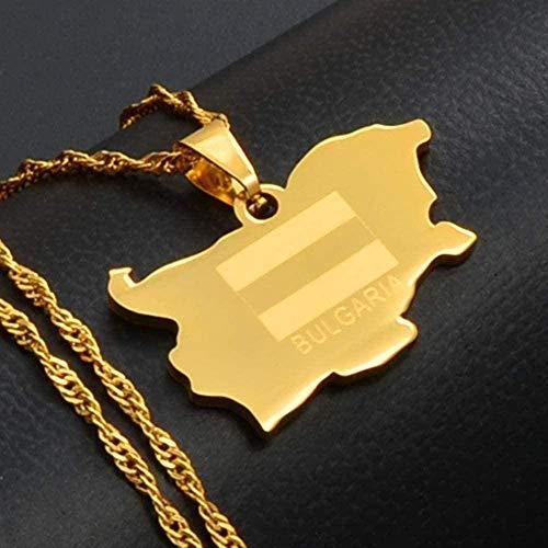 Aluyouqi Co.,ltd Halskette Die Republik Bulgarien Anhänger & Halskette Gold Farbe Schmuck Geschenke
