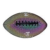 PIGMAMA Fútbol Iluminado, Fútbol Que Brilla En La Oscuridad para Niños, Fútbol Holográfico Brillante Rugby Luminoso con Luz LED Reflectante para Juegos Nocturnos Y Entrenamiento Al Aire Libre Regular