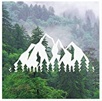 Mountain Tree Wall Window Decal Travel Wall Sticker Art Removable Mural For Home Bedroom Living Room Decor 91 * 42Cm