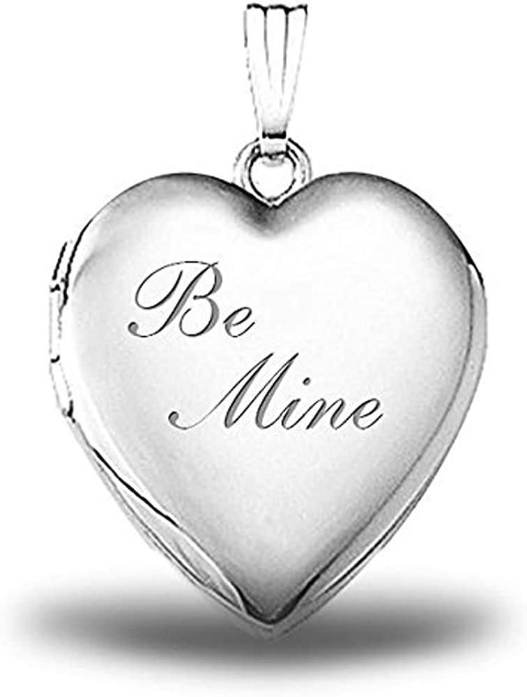 PicturesOnGold.com Sterling Silver Be Max 68% Max 89% OFF OFF Mine Heart In 3 4 - Locket