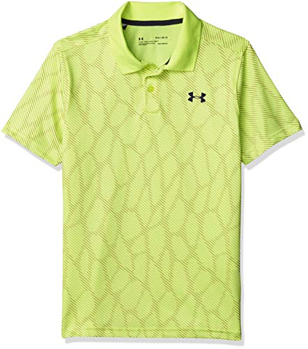 Under Armour Boys' Performance 2.0 Novelty Golf Polo , X-Ray (786)/Pitch Gray , Youth X-Large