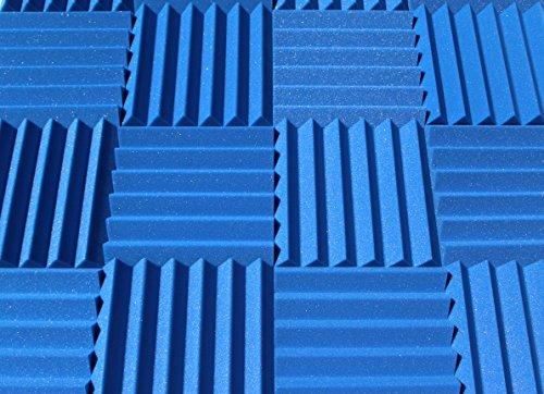 Soundproofing Acoustic Studio Foam - Blue Color - Wedge Style Panels 12