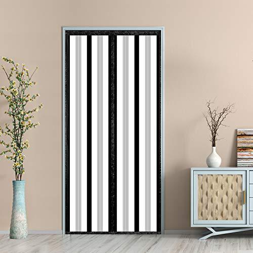 """Magnetic Insulated Door Curtain, Thermal Door Cover Screen Door Self-Closing Privacy Magnetic Screen Door Hands Free for Patio, Kitchen, Bedroom, Air Conditioner Room, Fits Doors up to 34"""" x 80"""""""