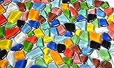 Soft | Vetro mosaico pietre irregolari (Polygonal) colorato, non traslucido circa 170 pezzi | 300 gr