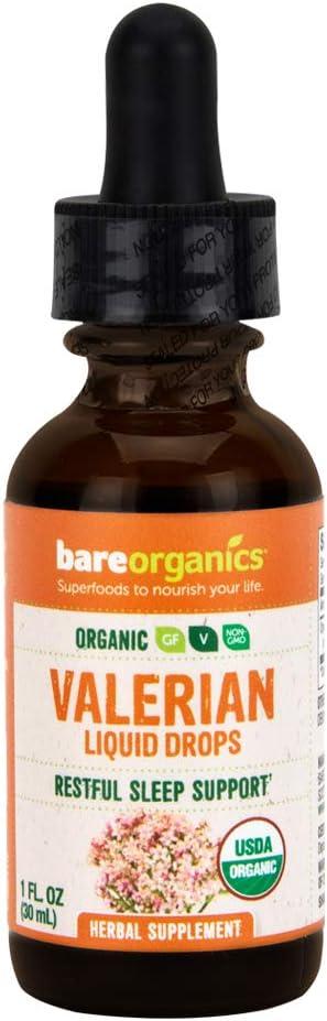 BareOrganics Valerian half Liquid Drops Ranking TOP8 Ounce 1 Organic